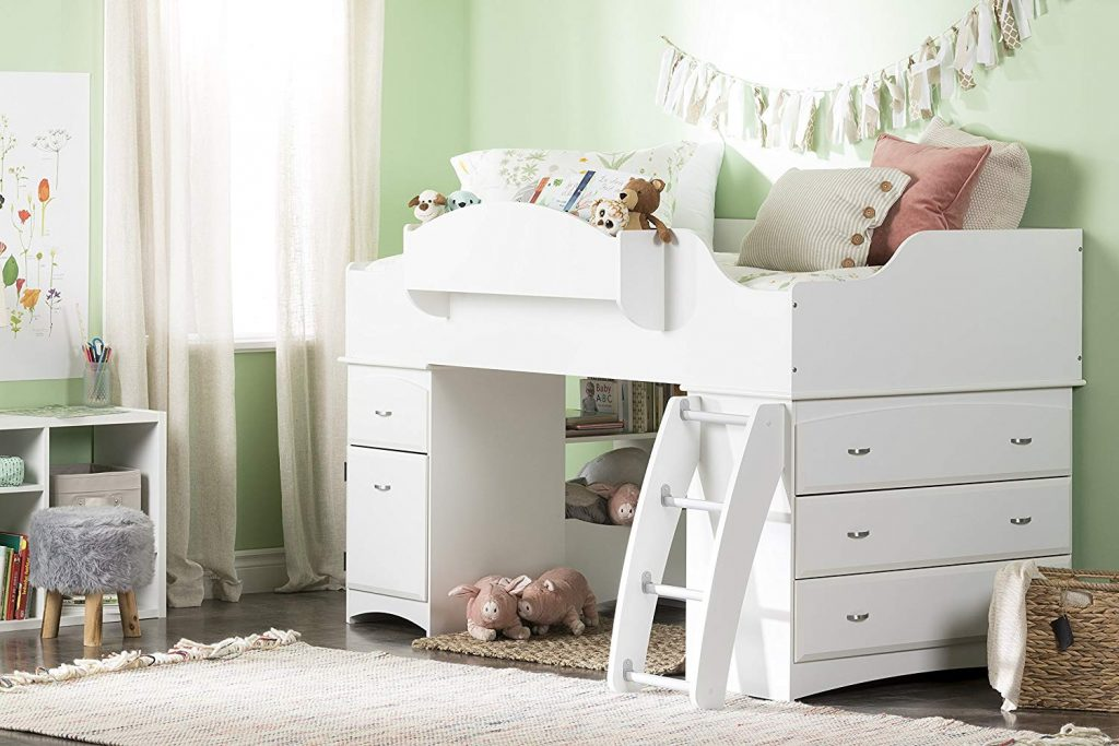 South Shore Imagine Collection Twin Loft Bed with Storage
