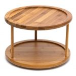 10 Inch 2-Tier Bamboo Lazy Susan Turntable