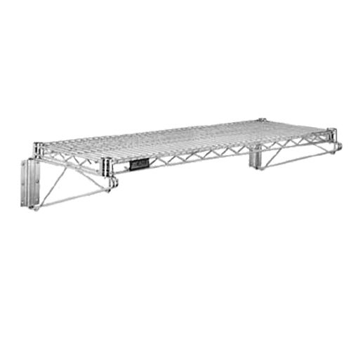 10 Inch x 24 Inch Wire Shelving - Nickel