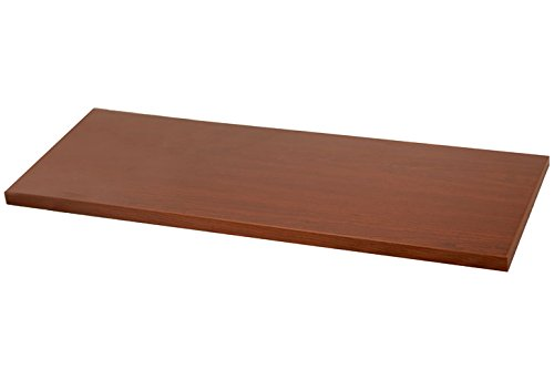 10 Inch x 36 Inch Melamine Wood Shelving - Walnut