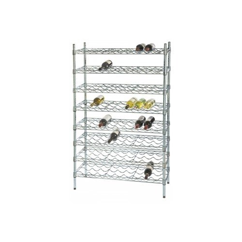 108 Bottle 12-Shelf Chrome Wine Rack