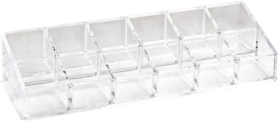 12-Compartment Acrylic Nail Polish Organizer