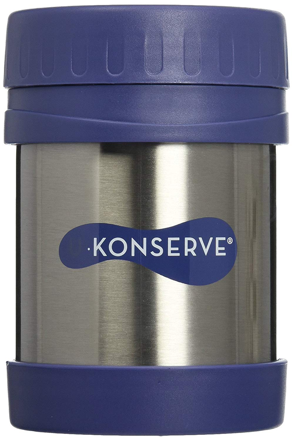 12 oz. Blue & Stainless Steel Insulated Jar