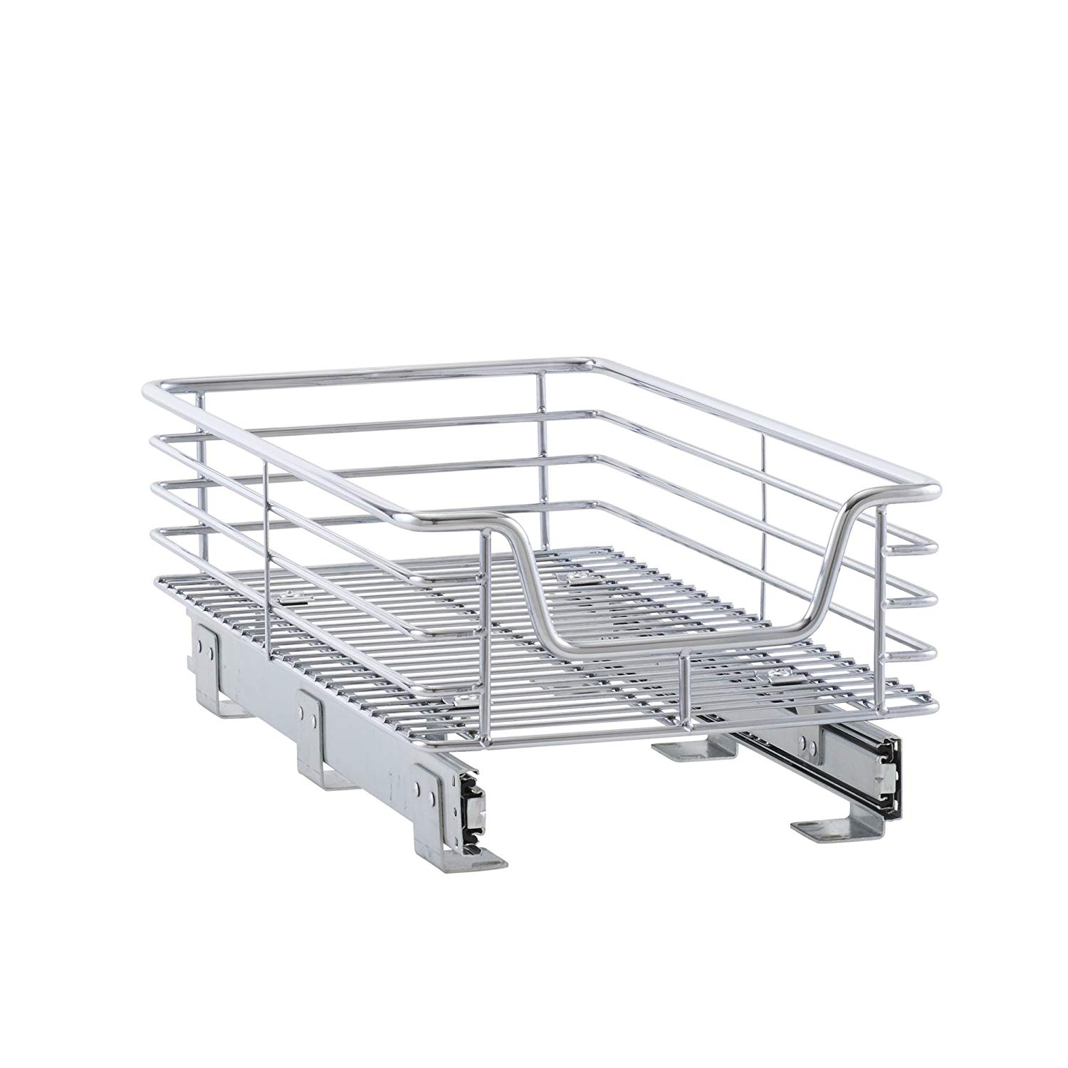 12 Inch x 21 Inch Chrome Slide-Out CabinetBasket