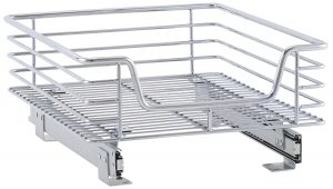 14.5 Inch x 18 Inch Chrome Slide-Out Cabinet Basket