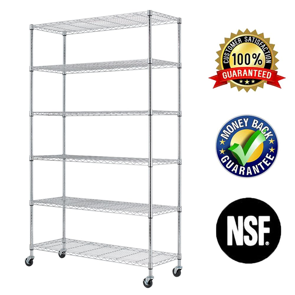 18 Inch Wire Shelving - Chrome