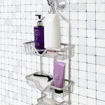 2-Tier White Shower Caddy