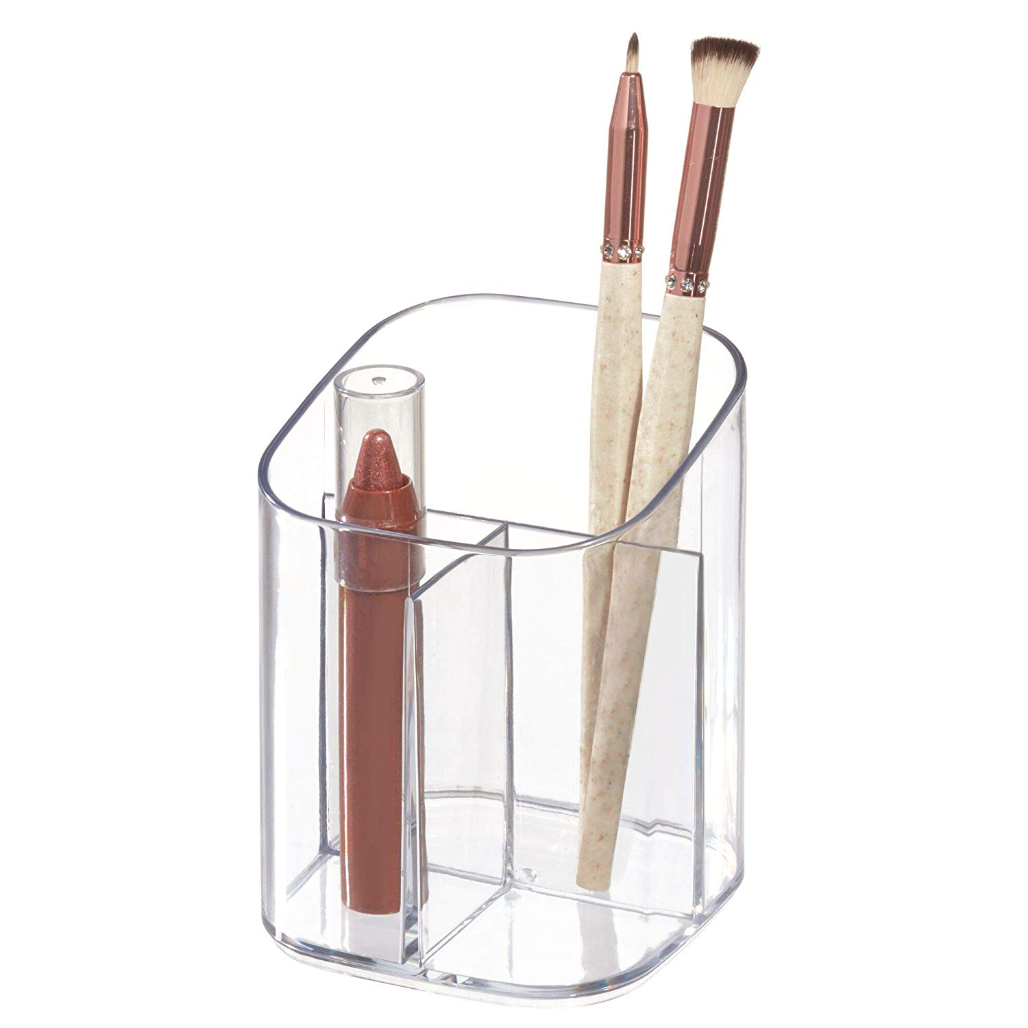 3-Compartment Clarity Makeup Cup