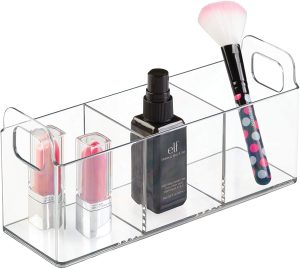 3-Compartment Clarity Tall 9 Inch Vanity Organizer