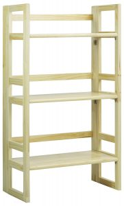 3-Tier Bamboo Folding Bookcase Tower
