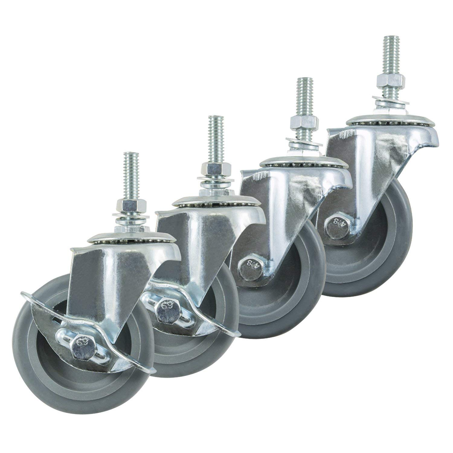 4 Inch Black IP Casters - Set of 4