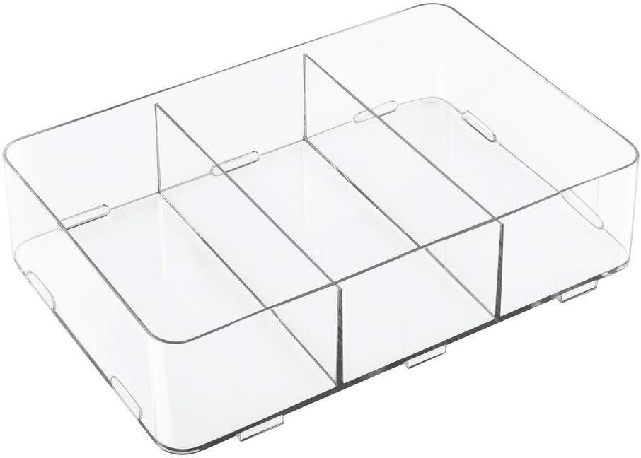 8 Inch x 12 Inch x 3 Inch Interlock 3-Compartment Organizer