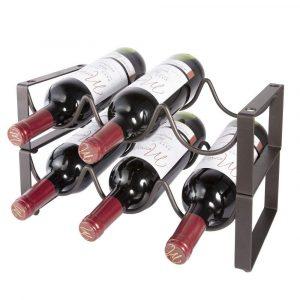 6-Capacity Wine Bottle Rack