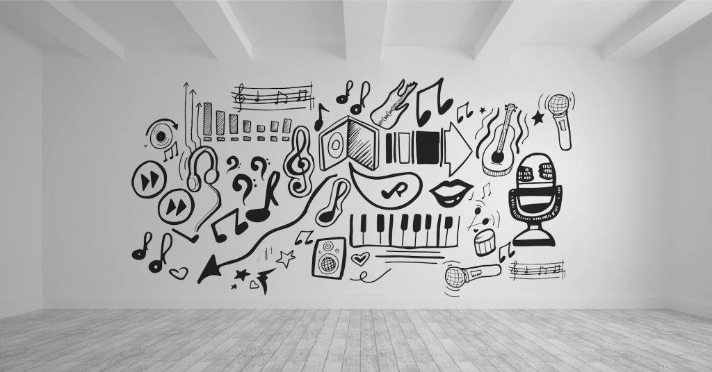 music stickers wallpaper
