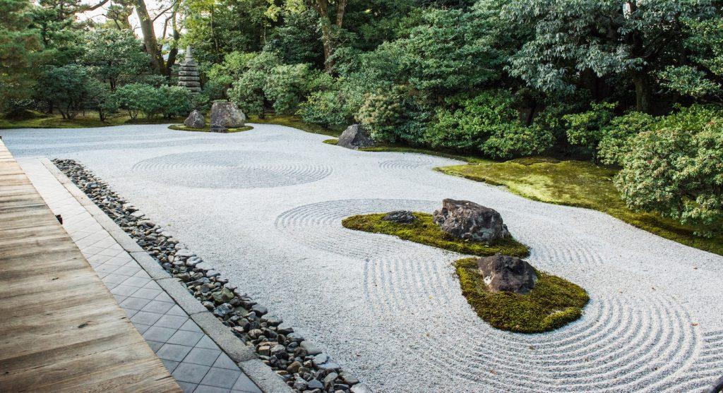 Pebbled pathways for zen garden