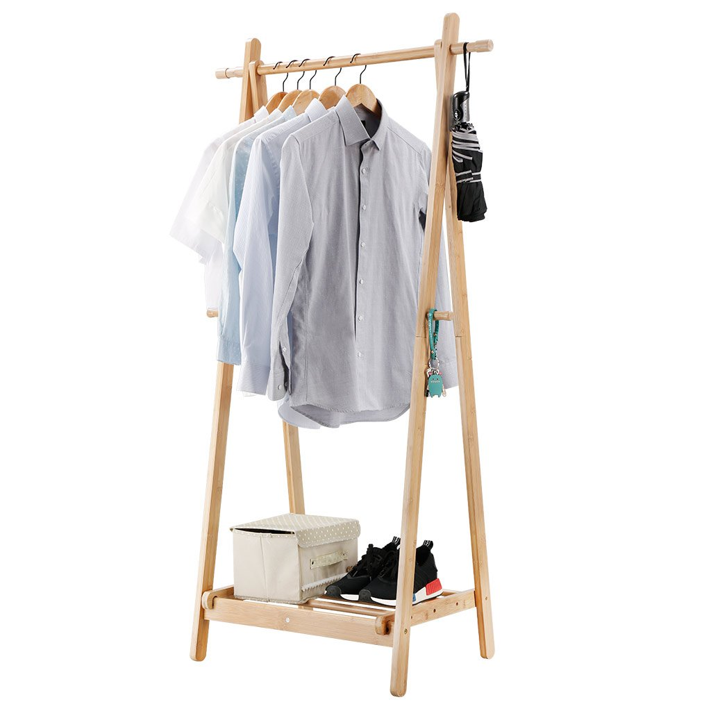 Bamboo Clothes Rack Storables