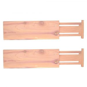 Bamboo Expanding Drawer Divider - Set of 2