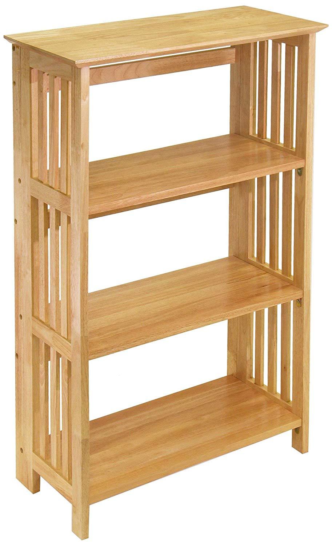 Bamboo Stacking Bookshelf
