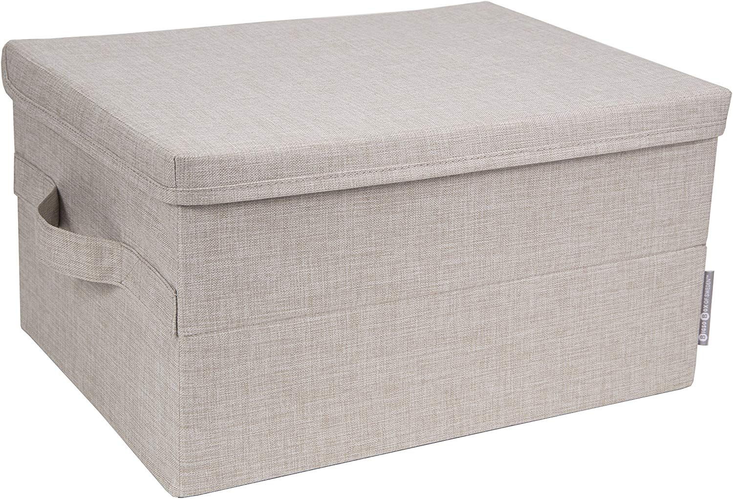 Bigso Medium Beige 12.5 Inch x 16.25 Inch Soft Storage Box