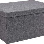 Bigso Medium Gray 13.8 x 7.5 x 10.25 inches Soft Storage Box