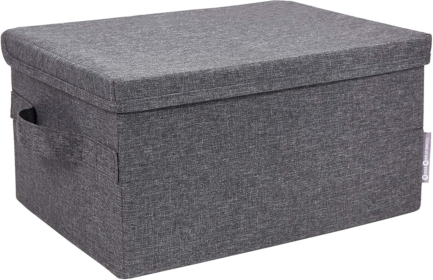 Bigso Small Gray 10.75 Inch x 14.5 Inch Soft Storage Box