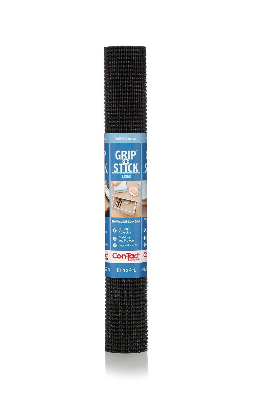 Black Grip N' Stick Shelf Liner