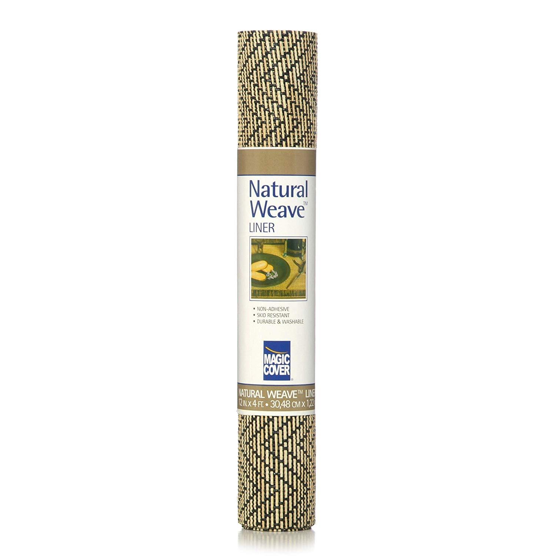 12 Inch x 4' Black & Natural Shelf Liner