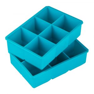 Blue Silicone King Cube Ice Cube Tray