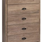 Brown and Gray 5-Drawer Chest
