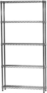 8 Inch x 36 Inch Chrome IP Steel Ledge Shelf