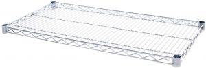 18 Inch x 36 Inch Chrome IP Steel Ledge Shelf