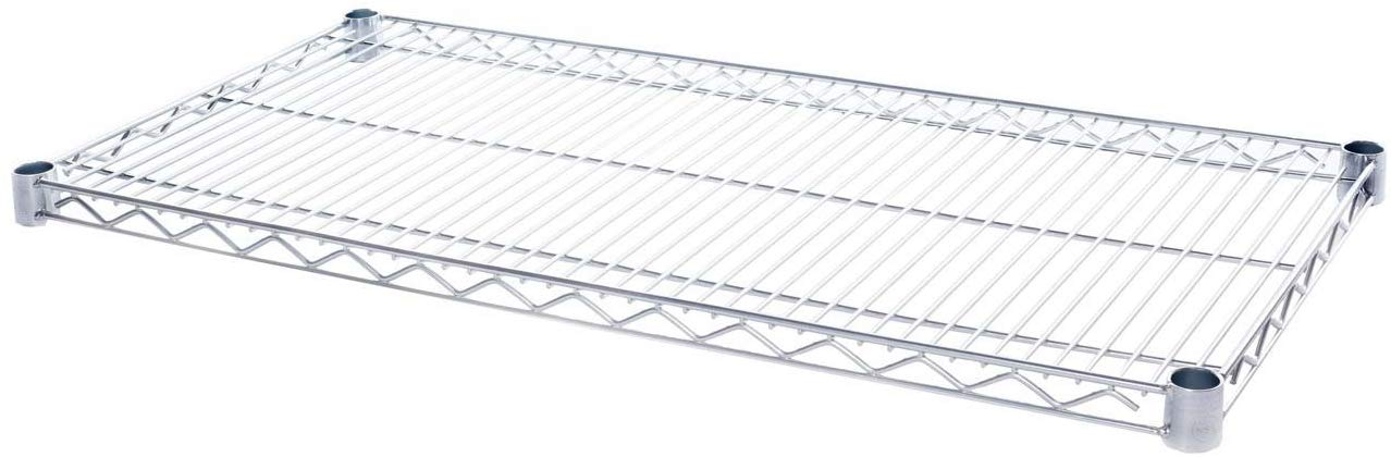 18 Inch x 36 Inch Chrome IP Steel Ledge Shelf