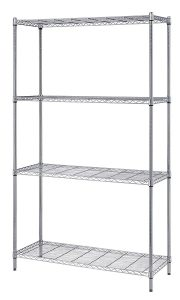 Chrome Wire 18 Inch Deep 4-Shelf Units