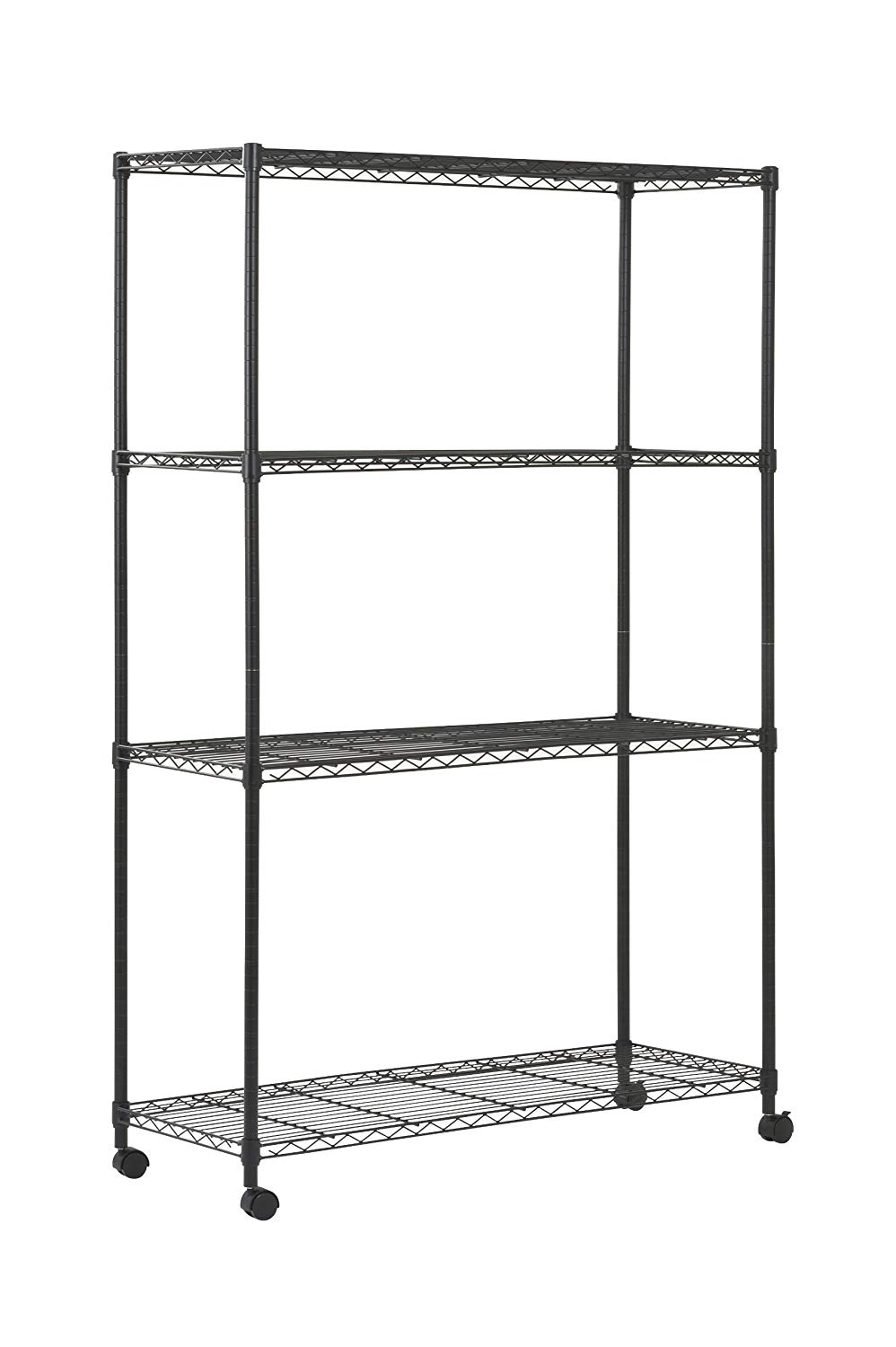 18 Inch x 48 Inch Chrome Wire Storage Cart