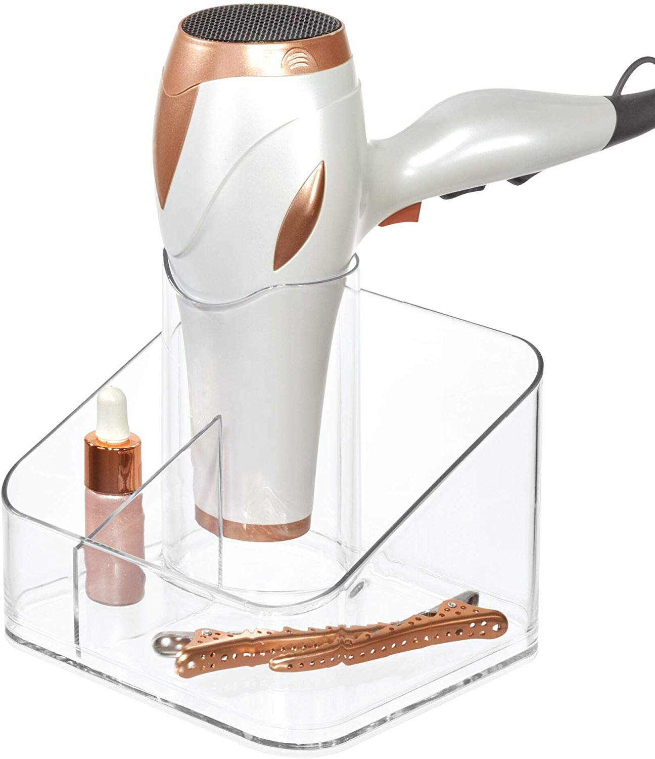 Clarity Countertop Hair Dryer Caddy