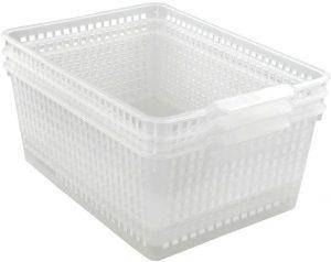 Clear 11.25 Inch x 14 Inch Storage Basket
