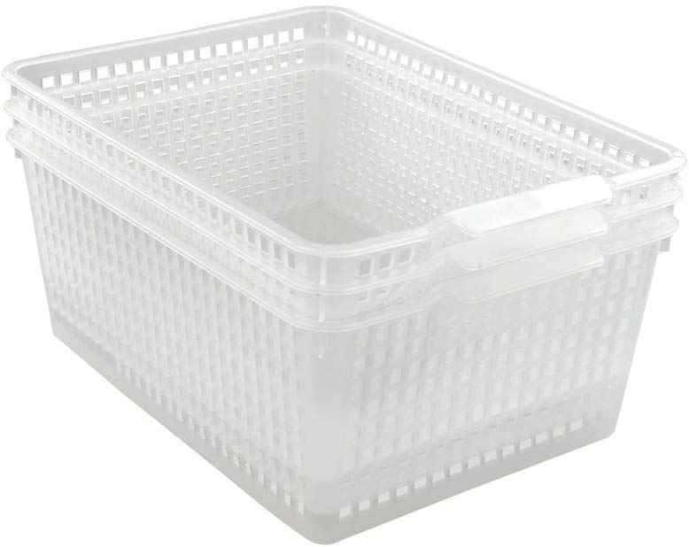 Clear 11.25 Quart Storage Basket