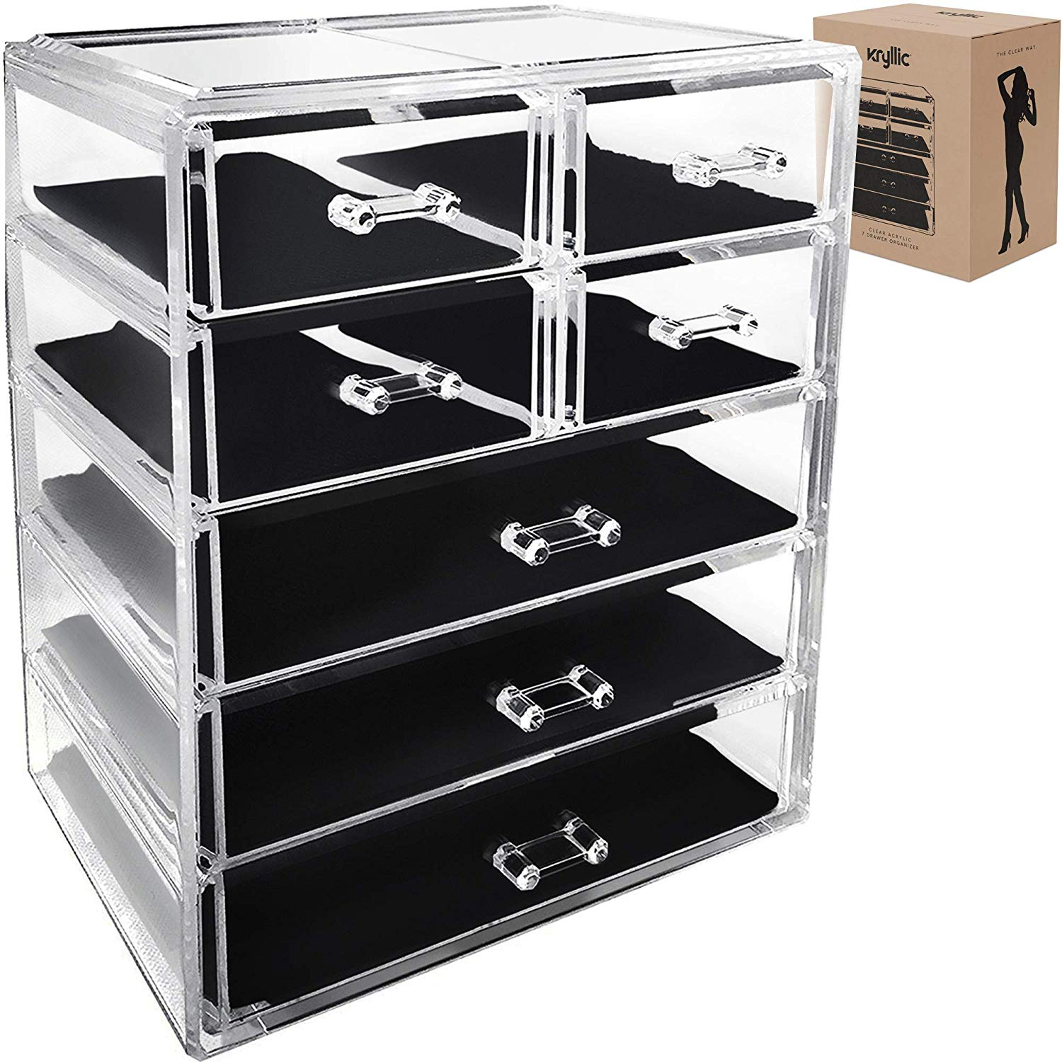 Clear 7-Drawer Cosmetic Chest