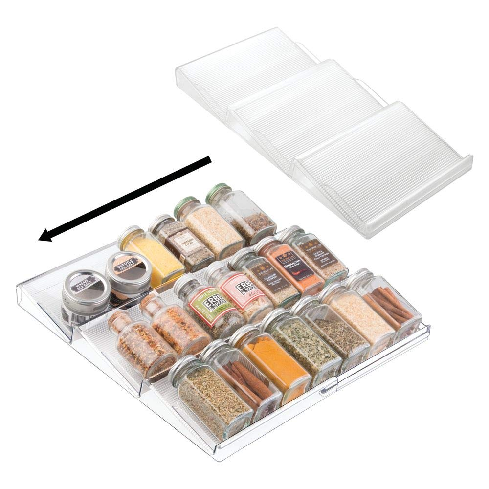 Clear Linus Expanding In-Drawer Spice Organizer