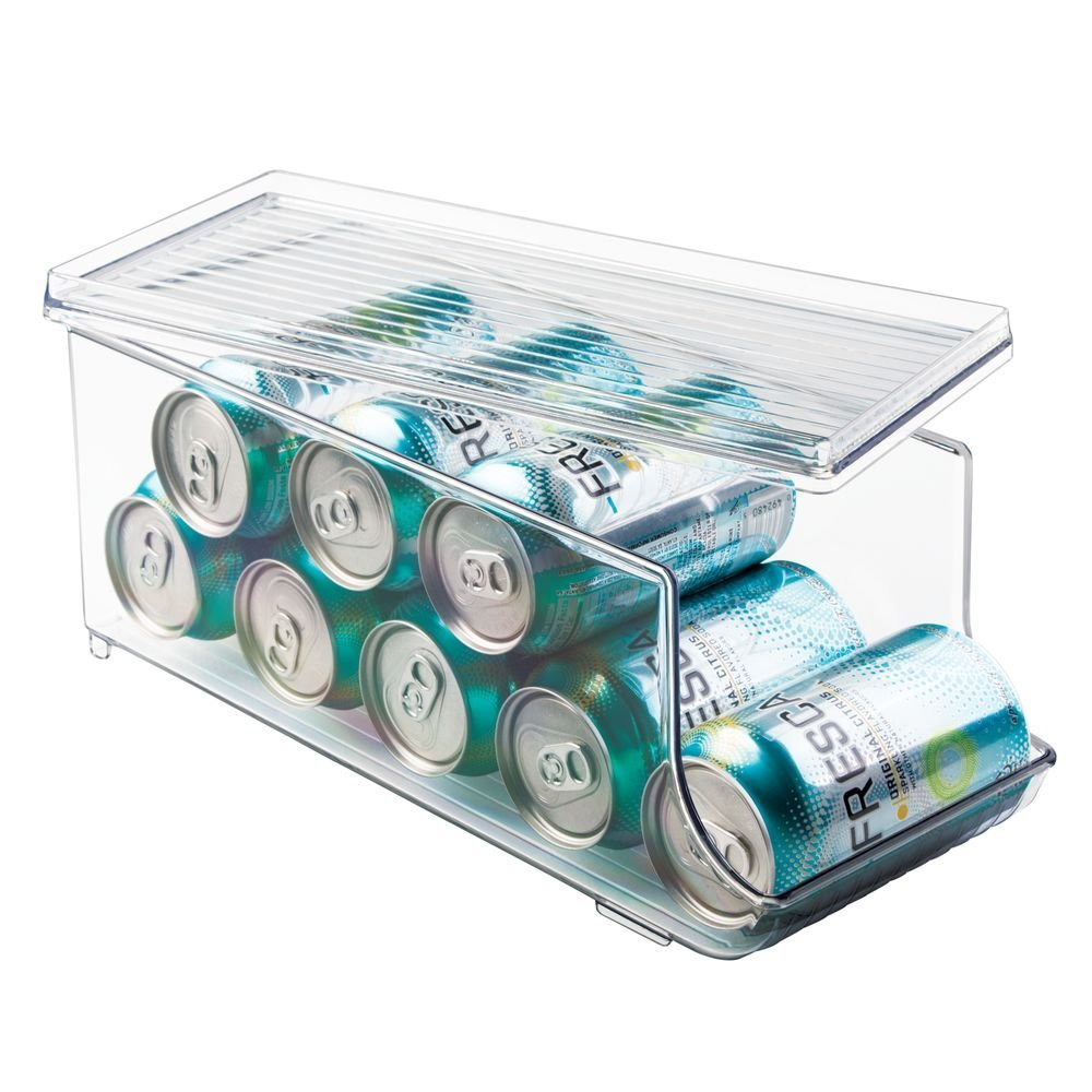 Clear Linus Soda Fridge Bin with Lid