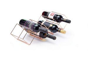Copper Lincoln Countertop Wine Rack