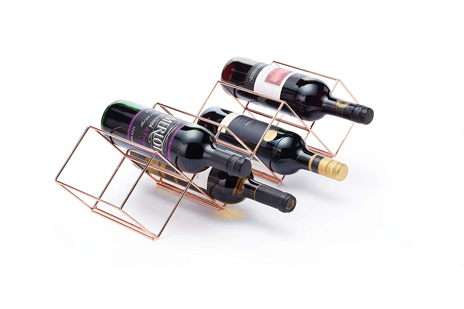 Copper Lincoln Countertop Wine Rack