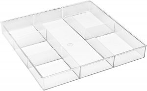 Deep 6-Compartment Cosmetic Tray