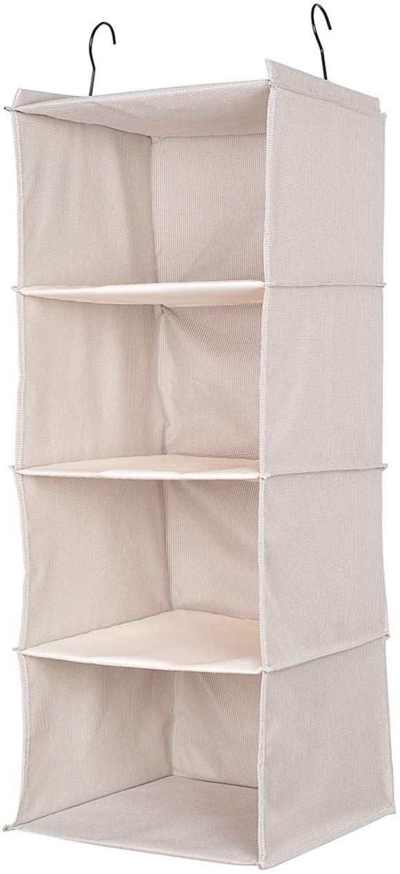 Eco-Fabric 4-Shelf Hanging Closet Organizer