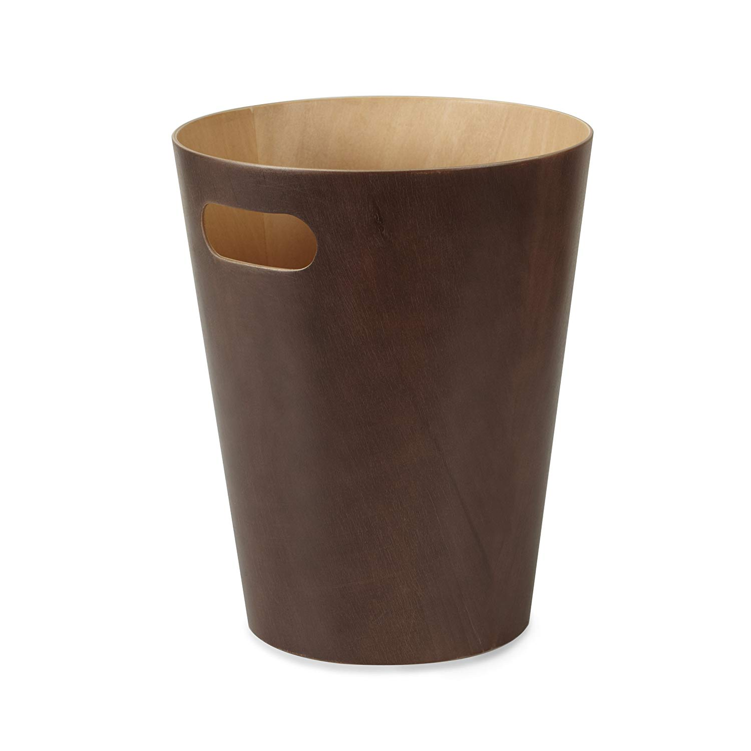 Espresso Woodrow Waste Can