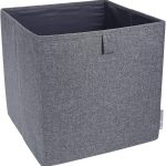 Gray 12.4 Inch x 12.4 Inch Soft Storage Cube