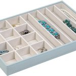 Gray 17-Compartment Jewelry Tray