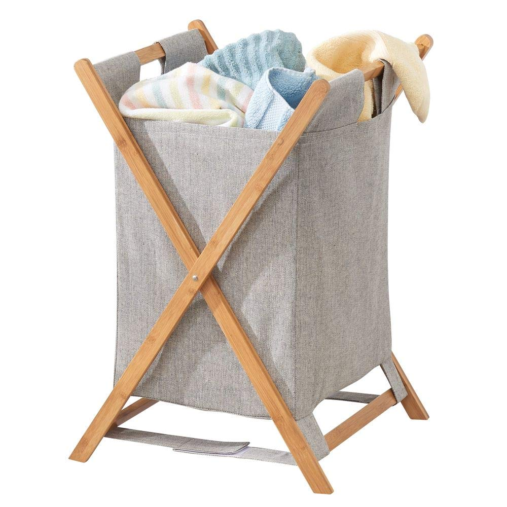 Gray Eco-Fabric Butterfly Hamper