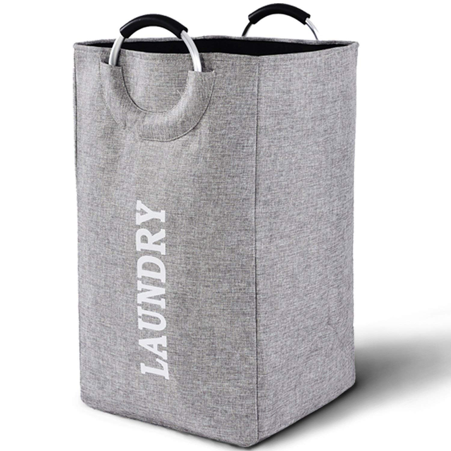 Gray Eco-Fabric Foldable Laundry Tote