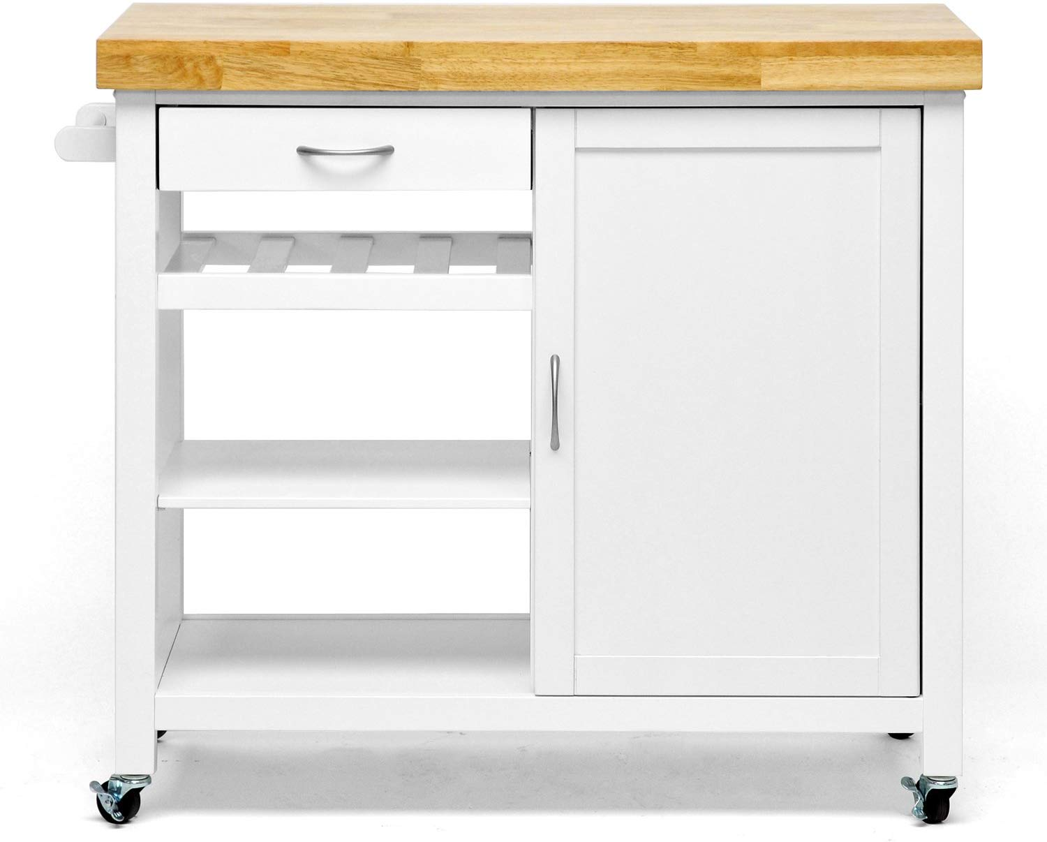 24 Inch X 48 Inch Kitchen Island Cart With Butcher Block Storables